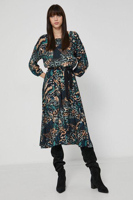 Sukienka z wzorzystej tkaniny
