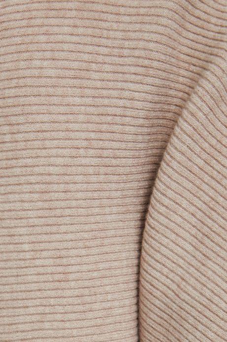 Sweter damski z fakturą beżowy