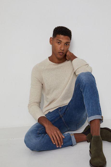 Sweter męski Basic kremowy