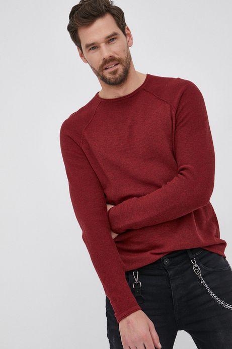 Sweter bawełniany męski czerwony