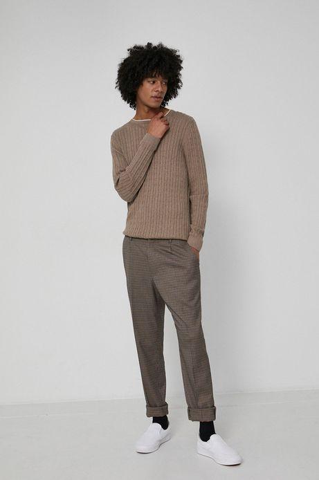 Sweter bawełniany męski beżowy