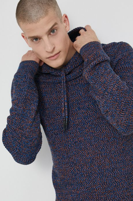 Sweter bawełniany męski granatowy