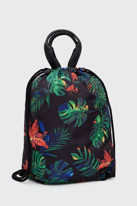 Plecak damski w roślinny wzór