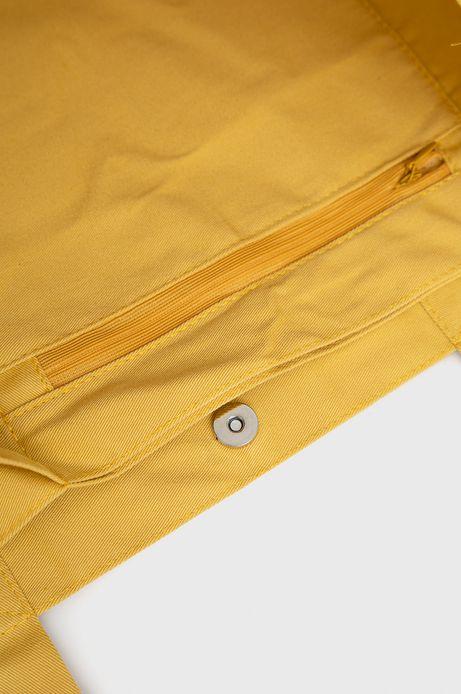 Bawełniana torba z nadrukiem żółta