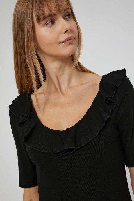 T-shirt damski czarny