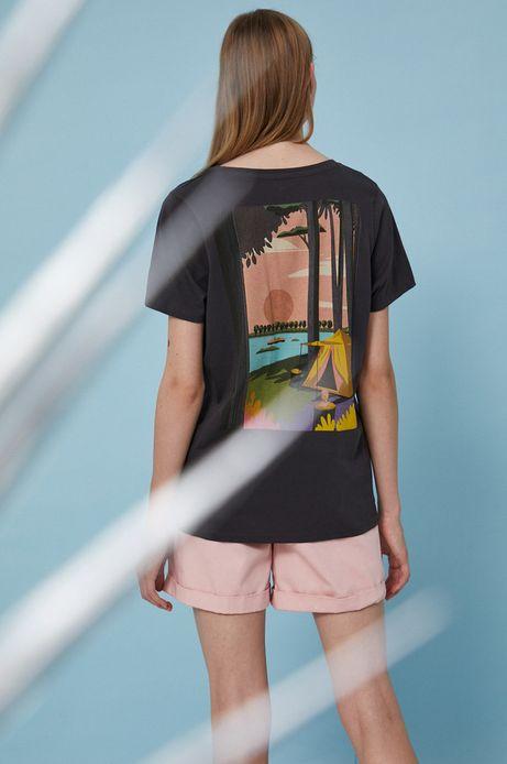 T-shirt damski by Justyna Frąckiewicz, Summer Posters szary