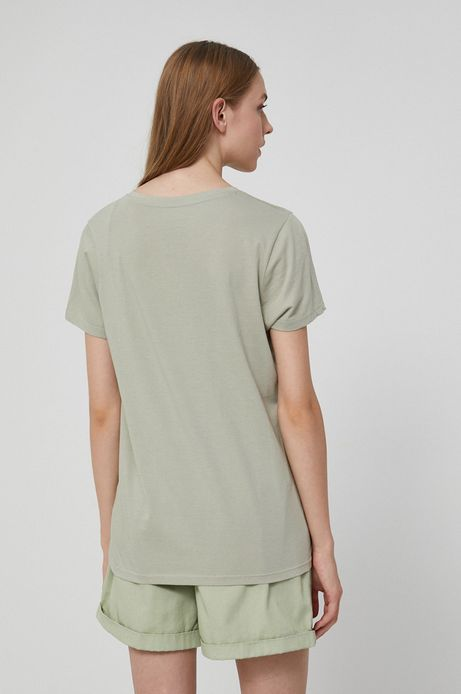 T-shirt damski by Justyna Frąckiewicz, Summer Posters zielony