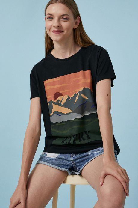 T-shirt damski by Justyna Frąckiewicz, Summer Posters czarny