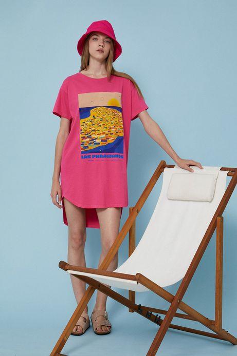 T-shirt damski by Ewelina Gąska, Summer Posters różowy
