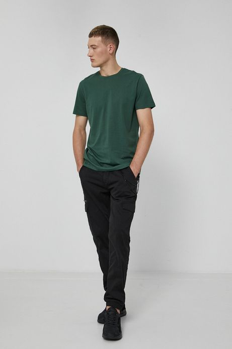 T-shirt męski z bawełny Pima zielony