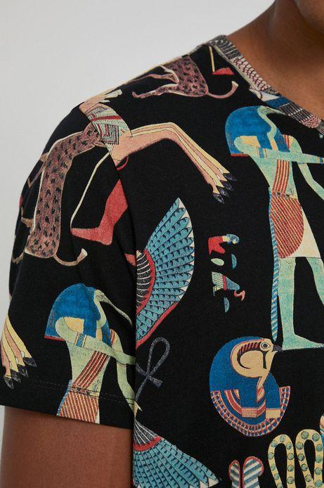 T-shirt bawełniany męski czarny