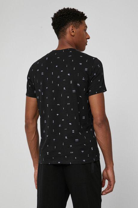T-shirt męski z bawełny organicznej czarny