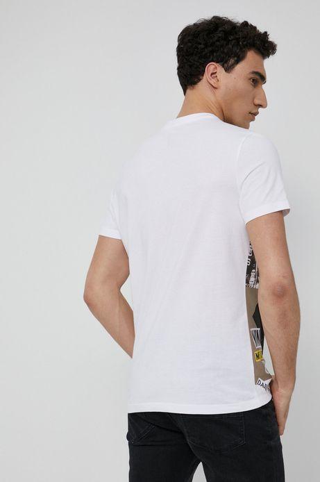 T-shirt bawełniany męski Olympic Games biały