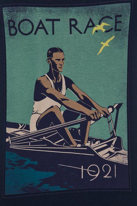 T-shirt bawełniany męski Olympic Games granatowy