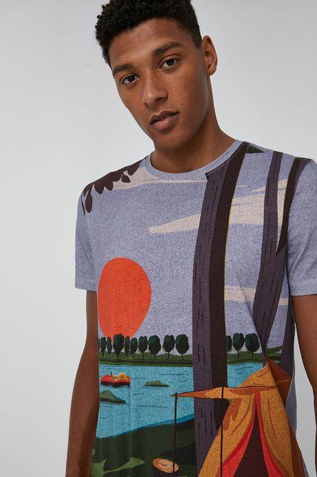 T-shirt bawełniany męski by Justyna Frąckiewicz, Summer Posters