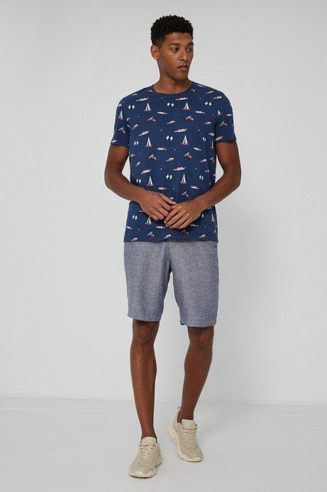 T-shirt bawełniany męski by Ola Jasionowska, Summer Posters niebieski