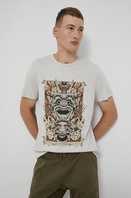 T-shirt bawełniany Barong Mask szary