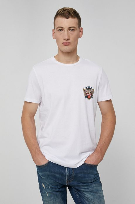 T-shirt bawełniany Barong Mask biały