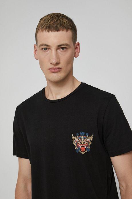T-shirt bawełniany Barong Mask czarny