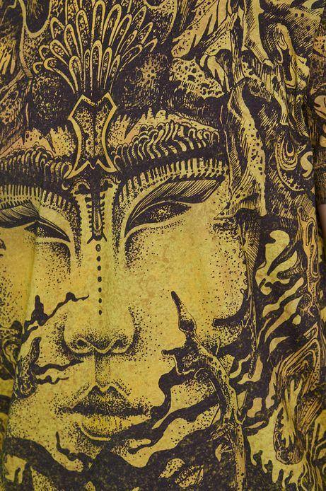 T-shirt bawełniany by Siergiej Kanarski, Grafika Polska zielony