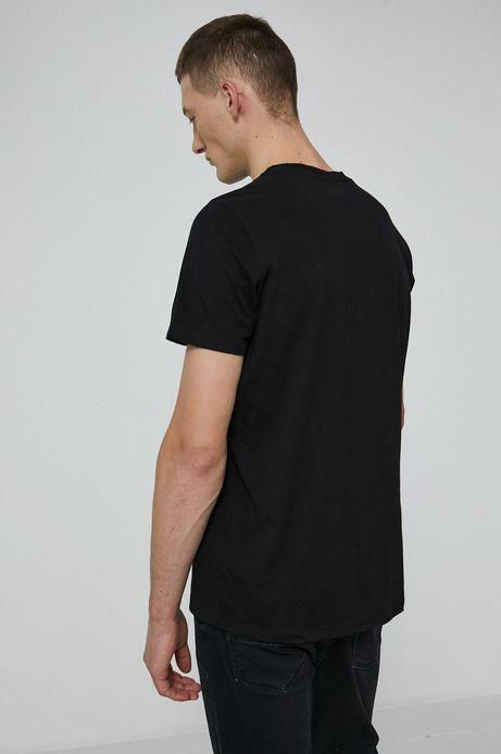 T-shirt bawełniany by Karol Jaźwiński, Grafika Polska czarny