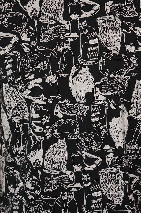 T-shirt bawełniany męski by Agnieszka Gajos, Grafika Polska czarny