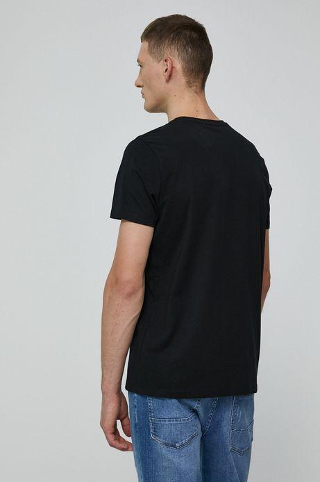 T-shirt męski z bawełny organicznej by Joanna Patejuk Grafika Polska czarny