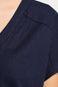 Woman's Sukienka Linen granatowa