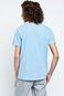 Man's T-shirt Linen niebieski