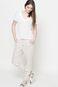Woman's T-shirt Linen Line biały