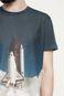 Man's T-shirt Space Odyssey granatowy