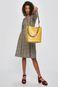 Torebka damska z ozdobnym uchwytem żółta