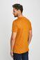 T-shirt męski wzorzysty żółty