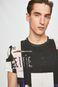 T-shirt męski z kolekcji Aviva L'arte wzorzysty kremowy