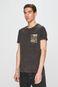 T-shirt męski z kolekcji Eviva L'arte z kieszonką szary