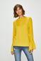 Bluzka damska żółta z rękawami zakończonymi ściągaczami