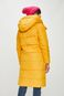 Kurtka damska długa żółta pikowana
