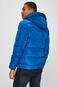 Kurtka męska niebieska pikowana z kapturem