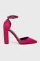 Sandały damskie fioletowe na obcasie