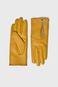 Rękawiczki damskie żółte z ozdobnym suwakiem