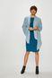 Sukienka damska niebieska prosta gładka