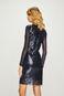 Sukienka damska granatowa z cekinami