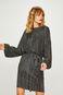 Sukienka damska czarna z wiązaniem na plecach