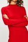 Sweter damski czerwony z półgolfem
