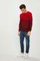 Sweter męski w paski czerwony