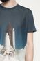 T-shirt Space Odyssey granatowy