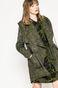 Przejściowa kurtka damska z kapturem zielona
