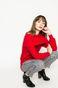 Sweter damski Basic czerwony