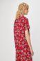 Koszula damska w kwiaty czerwony