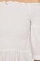 Bluzka damska z odkrytymi ramionami biała